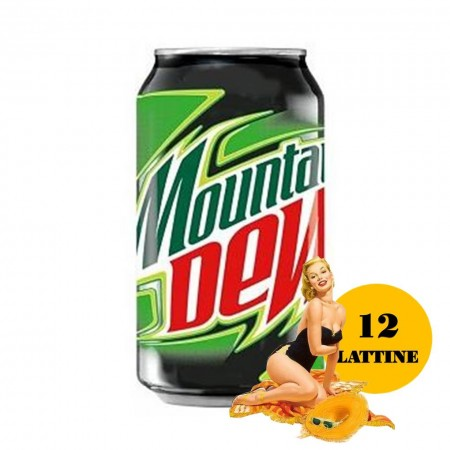 12 LATTINE MOUNTAIN DEW DA 330ml BIBITA USA SCONTO QUANTITA'