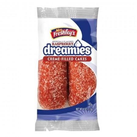 MRS FRESHLEYS RASPBERRY DREAMIES CREME CAKES TWIN PACK