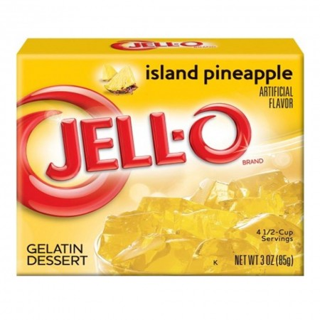 JELL-O ISLAND PINEAPPLE GELATINA 85GR AROMA ANANAS