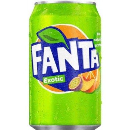 FANTA EXOTIC DA 330ML  BIBITA AI FRUTTI ESOTICI MADE IN EU