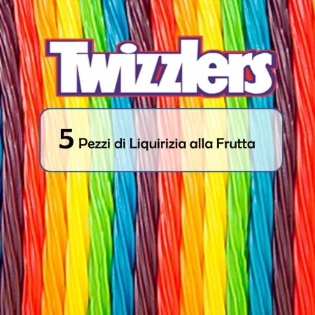 TWIZZLER RAINBOW TWIST FRUIT ( 5pz ) LIQUIRIZIA ALLA FRUTTA