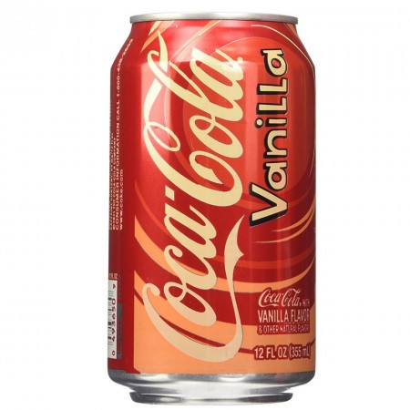 COCA COLA VANILLA 355ML VANIGLIA MADE IN USA BIBITA AMERICANA