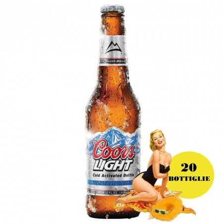 BIRRA COORS LIGHT 20x330Ml BEER Brand Americano
