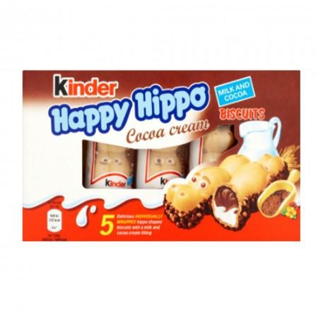 KINDER HAPPY HIPPO BOX DA 5pz COCOA AL CIOCCOLATO SNACK BISCOTTO FERRERO