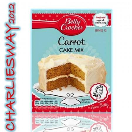 BETTY CROCKER PREPARATO PER TORTA TORTE ALLA CAROTA CARROT CAKE MIX DA 500 Gr