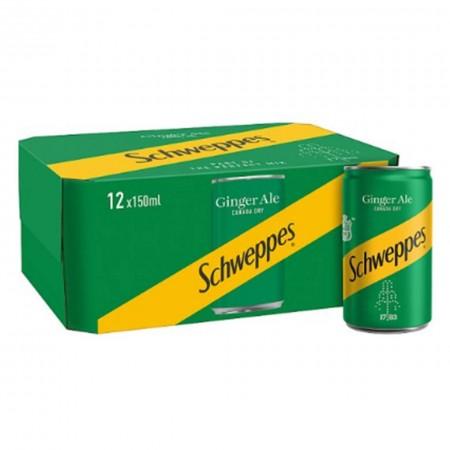 SCHWEPPES CANADA DRY 12x150ml GINGER ALE MINI LATTINE