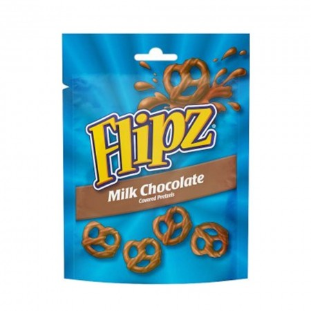 FLIPZ PRETZEL MILK CHOCOLATE COVERED 100g SNACK AMERICANI CIOCCOLATO