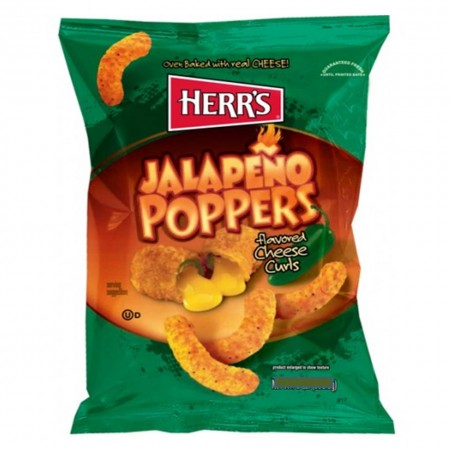 HERRS JALAPENO POPPERS CHEESY CURLS 24Gr PUFF FORMAGGIO