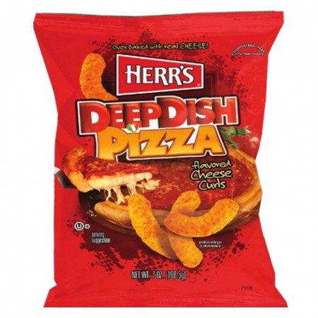 HERR'S DEEP PIZZA CURLS 28g HERRS PUFF AL GUSTO PIZZA CIBO USA