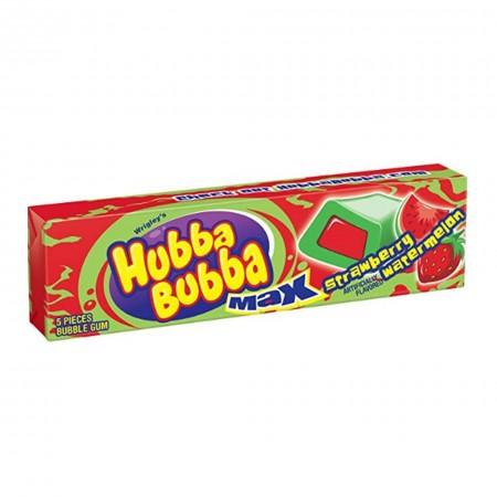 HUBBA BUBBA MAX STRAWBERRY ( 18 x 40g ) AMERICAN CHEWING GUM