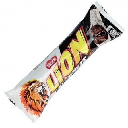 LION DA 50gr BLACK AND WHITE SNACK DOLCI