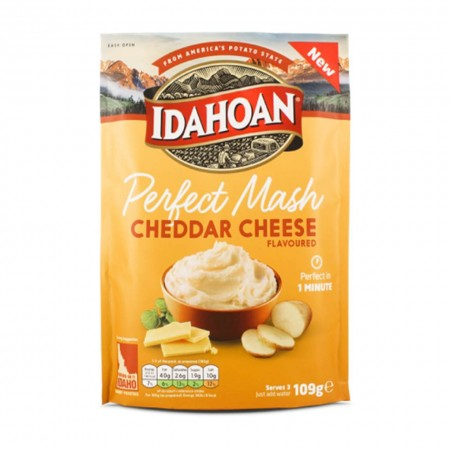IDAHOAN PERFECT MASH CHEDDAR CHEESE FLAVOURED 109g PURE' DI PATATE