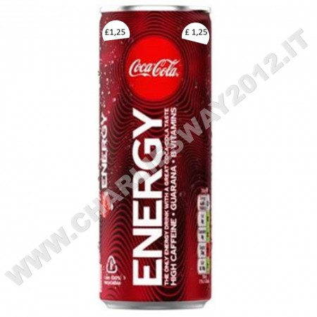 COCA COLA ENERGY DRINK 250ML BEVANDA ENERGETICA MARK PRICE STERLINE