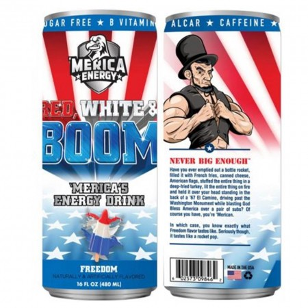 AMERICA ENERGY RED WHITE E BOOM 480ml FREEDOM AROMA GHIACCIOLO FRUTTA