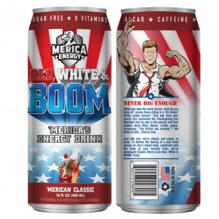 AMERICA ENERGY RED WHITE E BOOM 480ml CLASSIC CHERRY