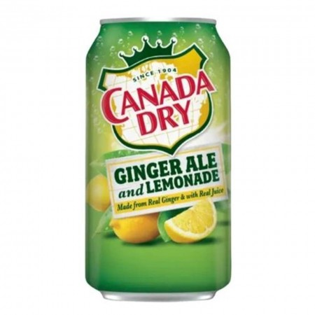 CANADA DRY GINGER ALE AND LEMONADE ( 12 x 355ml ) MADE IN USA