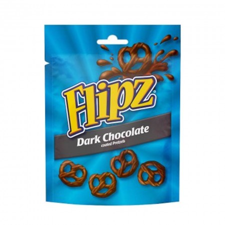 FLIPZ PRETZEL DARK CHOCOLATE COVERED 100g