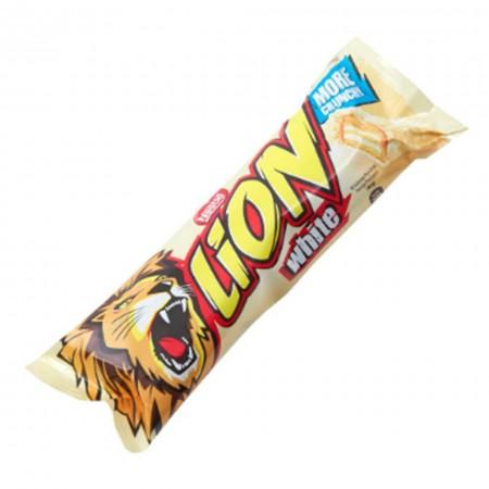 LION WHITE CHOCOLATE BAR DA 50gr CIOCCOLATO BIANCO