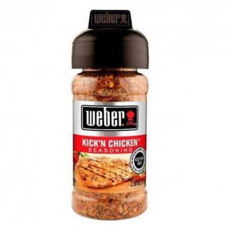 WEBER 71gr KICK'N CHICKEN ( agrumi ) GLUTEN FREE SPEZIE BARBECUE GRIGLIA