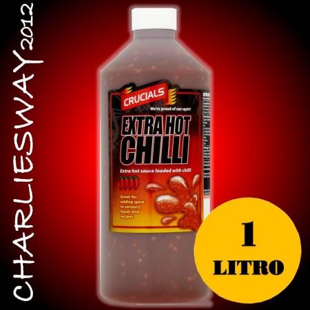 CRUCIALS SALSA DA 1 LITRO EXTRA HOT CHILLI