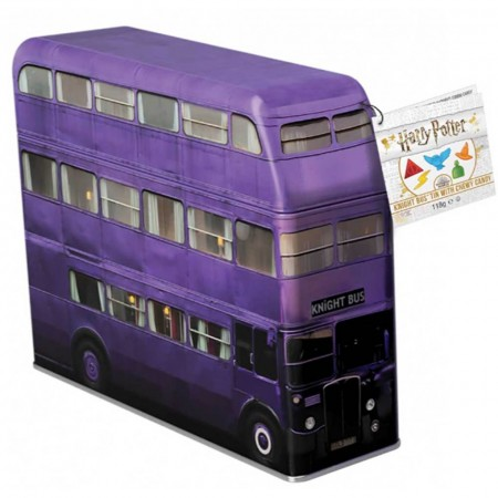 HARRY POTTER KNIGHT BUS MONEY TIN 112g CHEWY CANDY