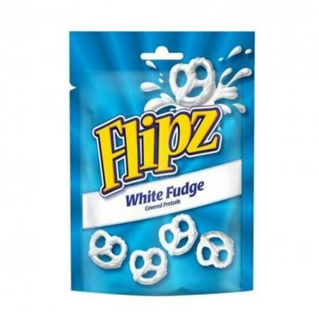 FLIPZ WHITE FUDGE COVERED PRETZELS 90g