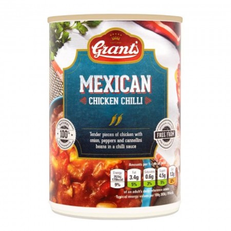 GRANTS MEXICAN CHICKEN CHILLI 390g CUCINA TEX MEX