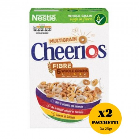 2 x NESTLE CHEERIOS DA 25Gr MULTIGRAIN AI 5 CEREALI