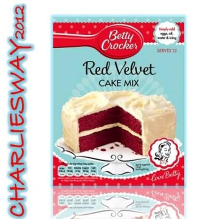 BETTY CROCKER PREPARATO PER TORTA RED VELVET MIX 450 Gr DOLCI TORTE CAKE MIX