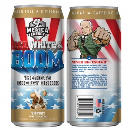 AMERICA ENERGY RED WHITE E BOOM 480ml VICTORY CREAM SODA