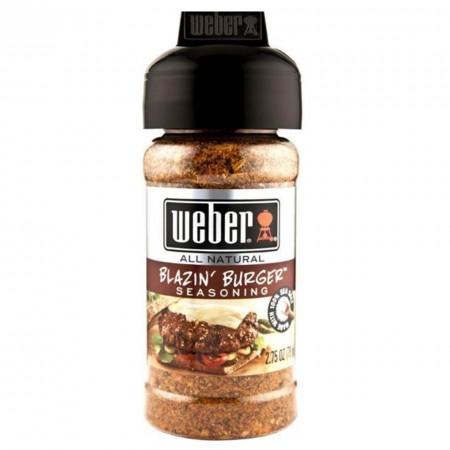 WEBER BLAZIN' BURGER SEASONING 78gr ( piccante ) GLUTEN FREE SPEZIE RUB