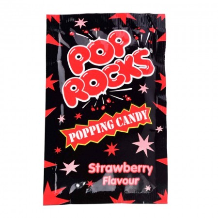 POP ROCKS STRAWBERRY 9,5g CARAMELLE FRIZZANTI MADE IN USA
