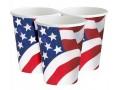 8 BICCHIERI FLAG AMERICA 255ML DI CARTONE MOLTO RESISTENTE PARTY