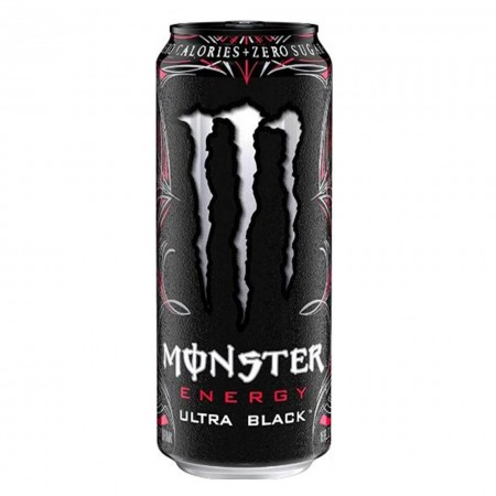 MONSTER ULTRA ZERO BLACK CHERRY 473ml MADE IN USA ENERGY DRINK