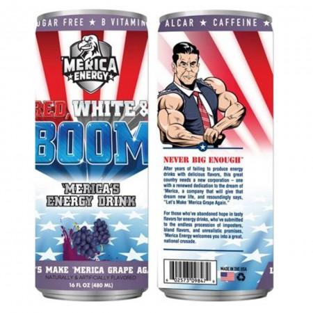 AMERICA ENERGY RED WHITE E BOOM 480ml LETS MAKE AMERICA GRAPE AGAIN UVA