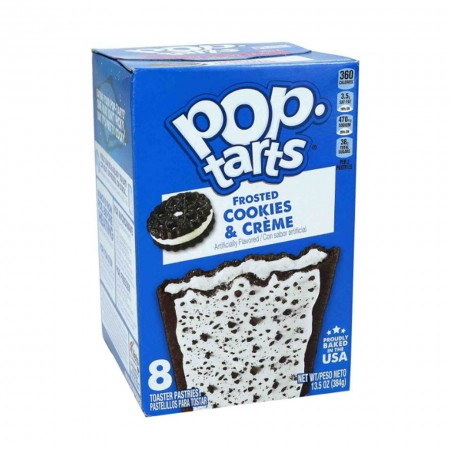 KELLOGGS POP TARTS FROSTED COOKIES AND CREME 400g  8pz MADE IN USA