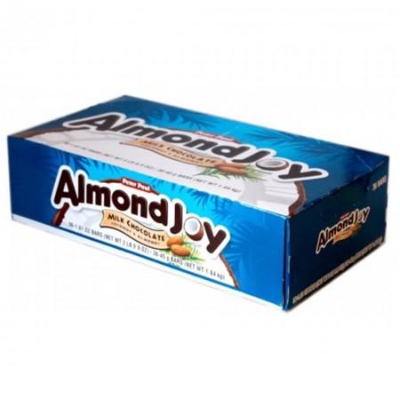 ALMOND JOY BARS BOX 18pz SNACK CIOCCOLATO MANDORLE E COCCO