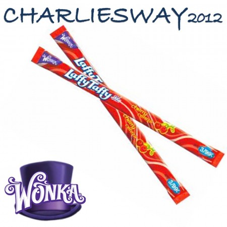 2 PEZZI WONKA LUFFY TUFFY CHERRY CARAMELLE GOMMOSE CILIEGIA 23Gr