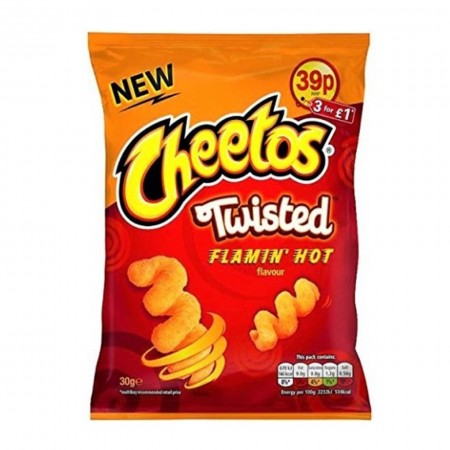 CHEETOS TWISTED FLAMING HOT 30g SNACK PICCANTE PRICE MARK