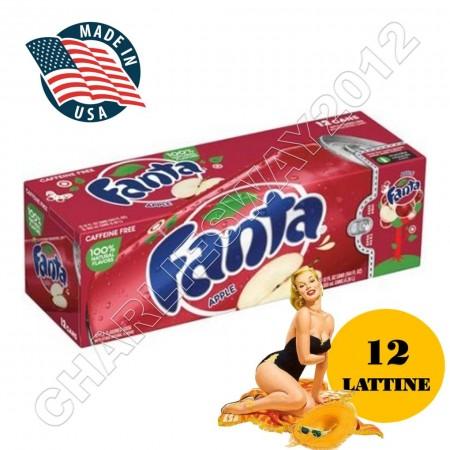 FANTA APPLE ( 12 x 355ml ) MELA MADE IN USA PER FRIGO FRIDGE PACK