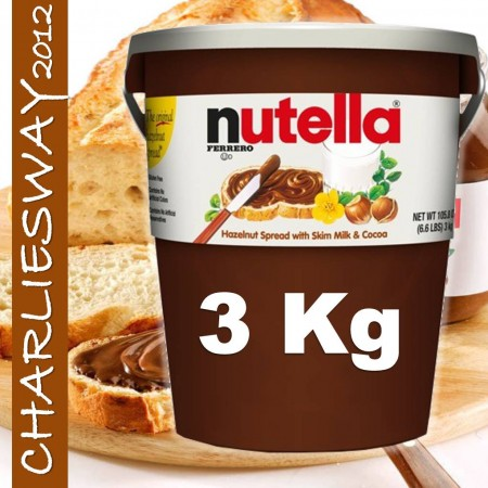 FERRERO NUTELLA 3KG BARATTOLONE CREMA SPALMABILE IDEA REGALO PARTY CON NOCCIOLE E LATTE