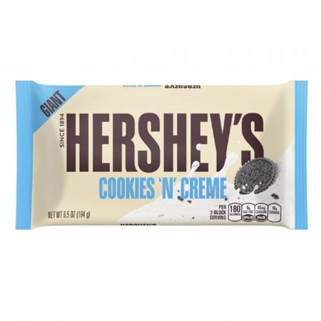 HERSHEY GIANT BAR 184g COOKIES N CREME