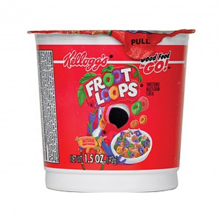 KELLOGGS FROOT LOOPS 42G MONOPORZIONE CEREAL IN A CUP
