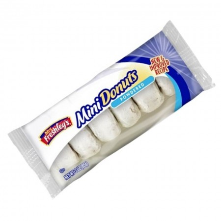 MRS FRESHLEYS MINI POWDERED DONUTS 94Gr RICOPERTI CON ZUCCHERO A VELO AL MADE IN USA