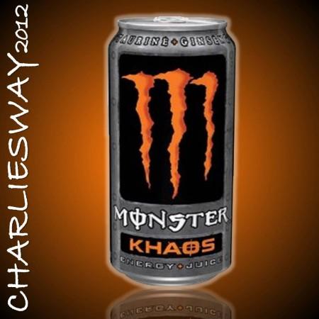 1 LATTINA MONSTER KHAOS 500 ML DRINK BEVANDA ENERGETICA SPECIALITA' DAL MONDO