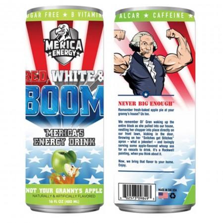 AMERICA ENERGY RED WHITE E BOOM 480ml NOT YOUR GRANNY'S APPLE