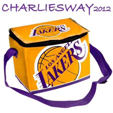 BORSA TERMICA LOS ANGELES LAKERS PRODOTTO UFFICIALE LICENZA NBA CAPIENZA 12 LATTINE