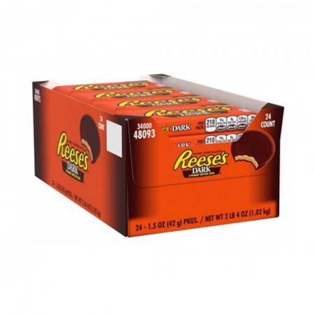 REESES DARK CHOCOLATE PEANUT BUTTER CUPS ( 24pz x 42g ) FONDENTE