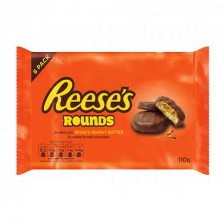 REESES PEANUTS BUTTER ROUNDS 110g SNACK DOLCI AMERICANI