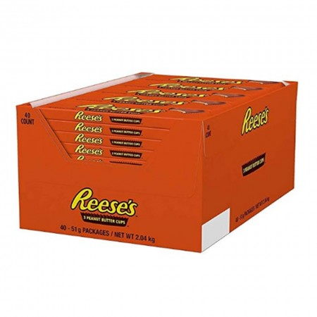 REESES PEANUT BUTTER CUPS ( 40 x 51g ) 3 cups